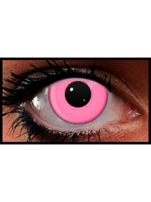 Pink UV Reactive Crazy Coloured Contact Lenses (90 Days