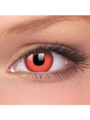 Red Devil Crazy Colour Contact Lenses (1 Year Wear)