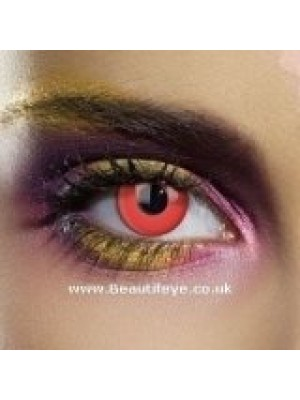 EDIT Colour Vision Devil Red Contact Lenses