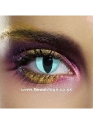 EDIT Crazy Aqua Cat Contact Lenses