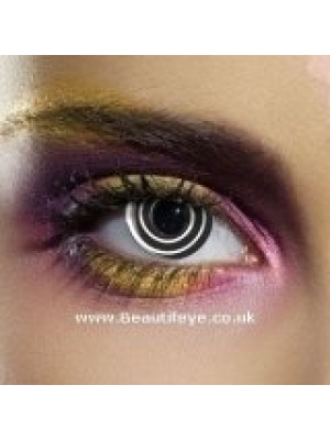 EDIT Crazy Black Spiral Contact Lenses