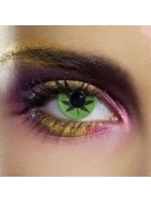 EDIT Crazy Green Cannabis Leaf Contact Lenses