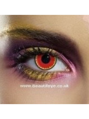 EDIT Crazy Red Vampire Contact Lenses