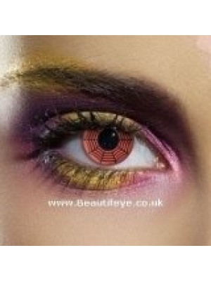 EDIT Crazy Red Web Contact Lenses