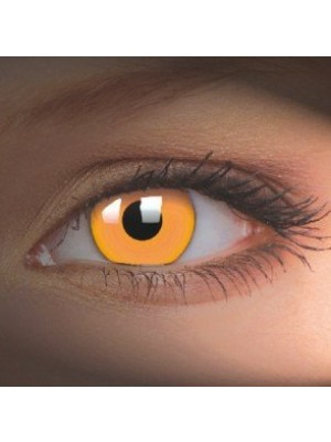 UV Glow Orange Crazy Colour Contact Lenses (1 Year)