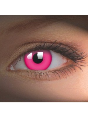 UV Glow Pink Crazy Colour Contact Lenses (1 Year)