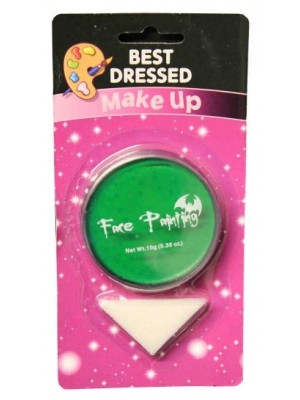 Green Fancy Dress Halloween Party Makeup Face Paint With Sponge