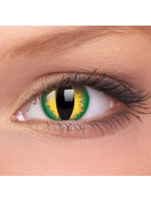 Green Dragon Crazy Colour Contact Lenses (1 Year Wear)