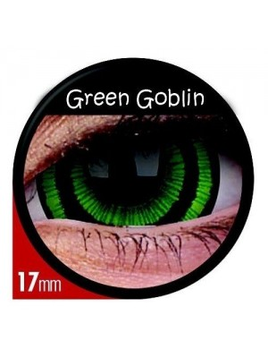 Green Goblin Mini Sclera Coloured Contact Lenses (1 Year)