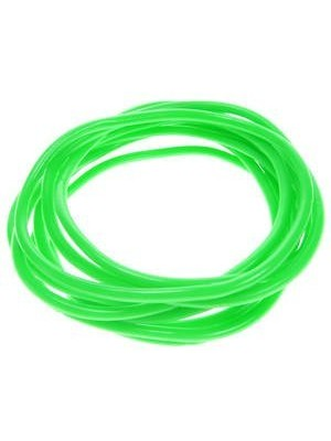 Set Of 12 Neon Green Gummy Band Bracelets