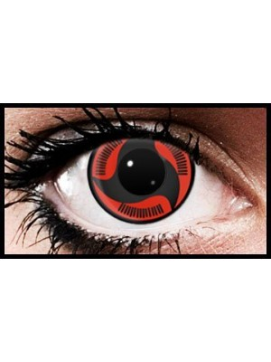 Itachi Mangekyu Anime Coloured Contact Lenses (90 Day)