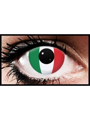 Italy Flag Colour Contact Lenses (90 Day)