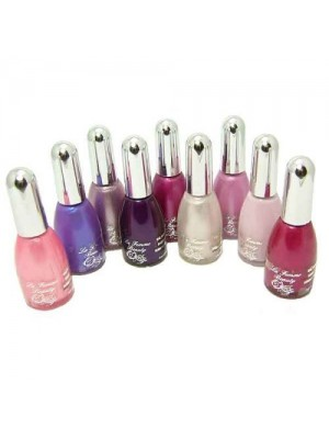 La Femme Set of 9 Nail Polish Pinks And Purples - Tray 8