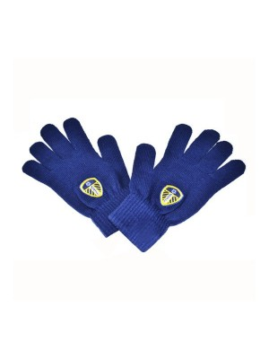 Leeds United Knitted Gloves - Navy