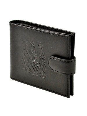 Manchester City Crest Embossed Leather Wallet