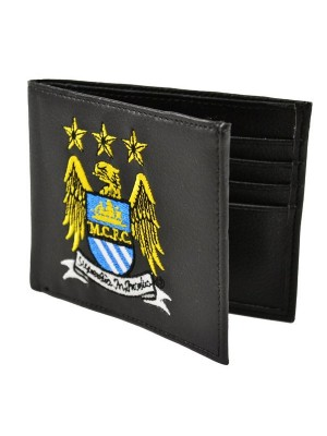 Manchester City Crest Embroidered PU Leather Wallet