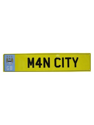 Manchester City Number Plate Sign