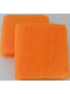 Neon Orange Sweatband / Armband For Rave Party Festival