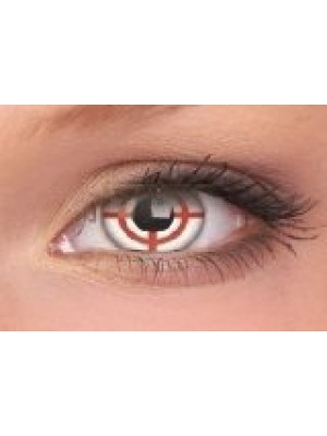 Red Target Crazy Colour Contact Lenses (1 Year)