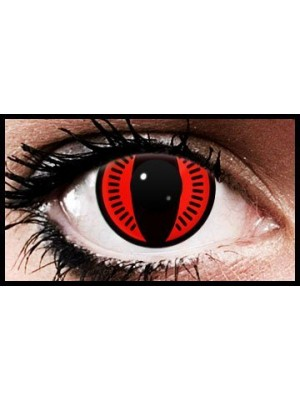 Nine Tails Naruto Anime Coloured Contact Lenses (90 Day)