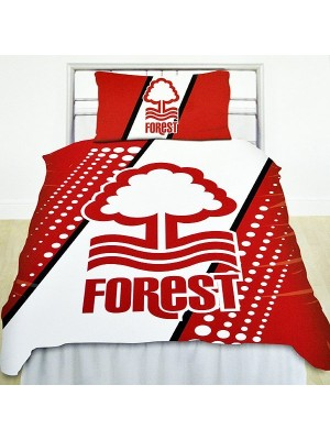 Nottingham Forest Stripe Single Duvet Set