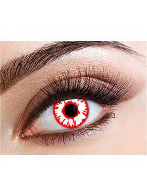 Crazy Red White Bullet Coloured Contact Lenses