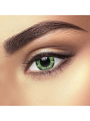 EDIT Big Eye Party Green Coloured Contact Lenses