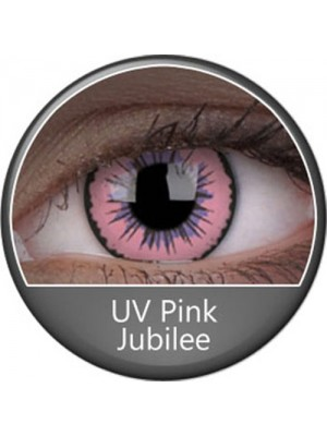 UV Glow Pink Jubilee Crazy Colour Contact Lenses (1 Year)