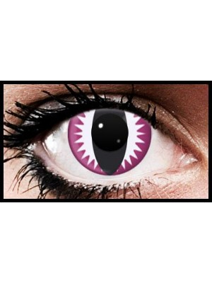 Pink Viper Crazy Coloured Contact Lenses (90 days)