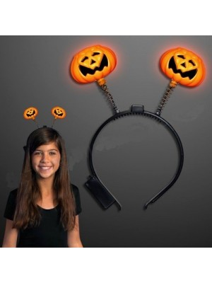 Fancy Dress Luminous Light Up Pumpkin Head Band