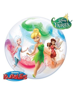 Qualatex 22 Inch Single Bubble Balloon - Disney Fairies
