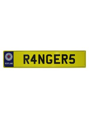 Rangers Number Plate Sign