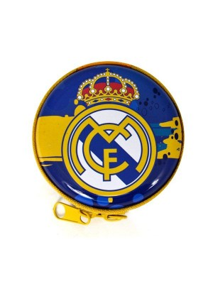 Real Madrid Blue/Yellow Tin Coin Pouch