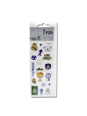 Real Madrid Crystal Stickers Pack -12PK