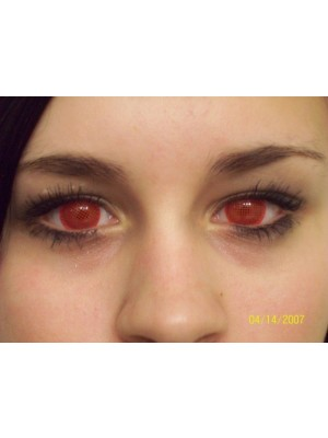 Red Screen Crazy Colour Contact Lenses (1 Year Wear)