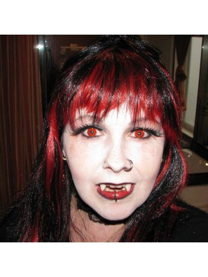 Red Block Funky Crazy Coloured Contact Lenses (90 Day)