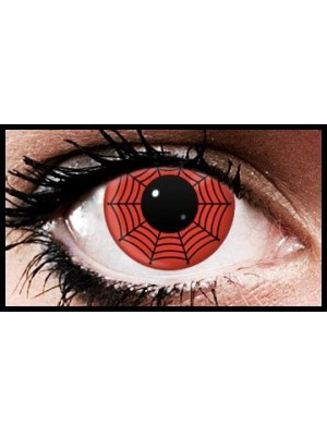 Red Spiderweb Crazy Coloured Contact Lenses (90 days)