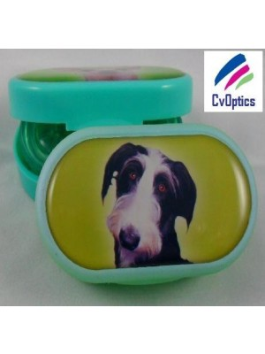 Lurcher Furry Friends Contact Lens Soaking Case