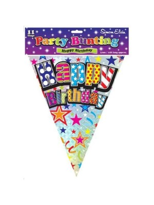 Simon Elvin 12 Feet Bunting - Happy Birthday