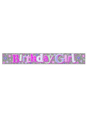 Simon Elvin Birthday Foil Banner - Girl