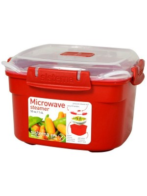Sistema Small Microwave Steamer - Red