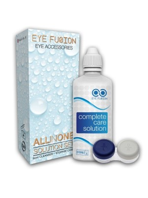 Coloured Contact Lenses Cleaning Solution With Storage Case