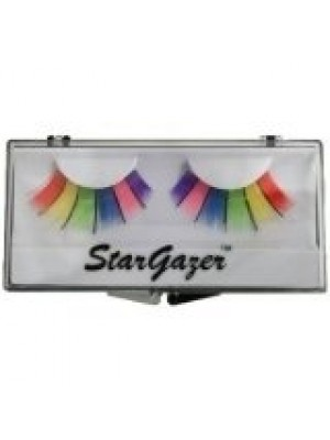 Stargazer Reusable False Eyelashes Multi Coloured Rainbow 9