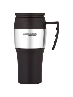 Thermos Thermocafe Black Travel Mug - 400 ML