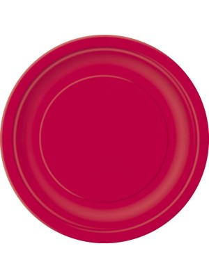 Unique Party 9 Inch Plates - Ruby Red