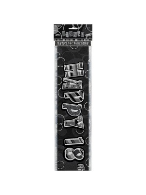 Unique Party Black Foil Banner - 18