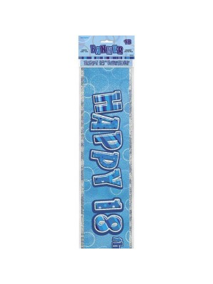 Unique Party Blue Foil Banner - 18