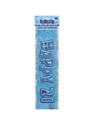 Unique Party Blue Foil Banner - 21