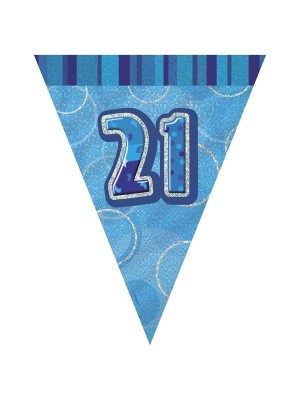 Unique Party Blue Pennant Bunting - 21