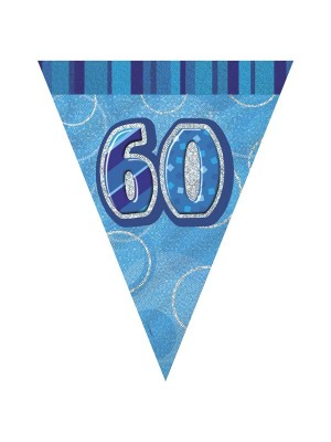 Unique Party Blue Pennant Bunting - 60